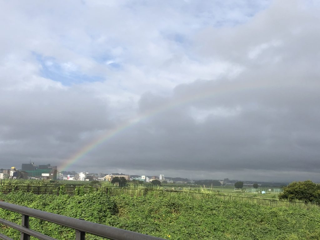 二子玉川 多摩川の虹空