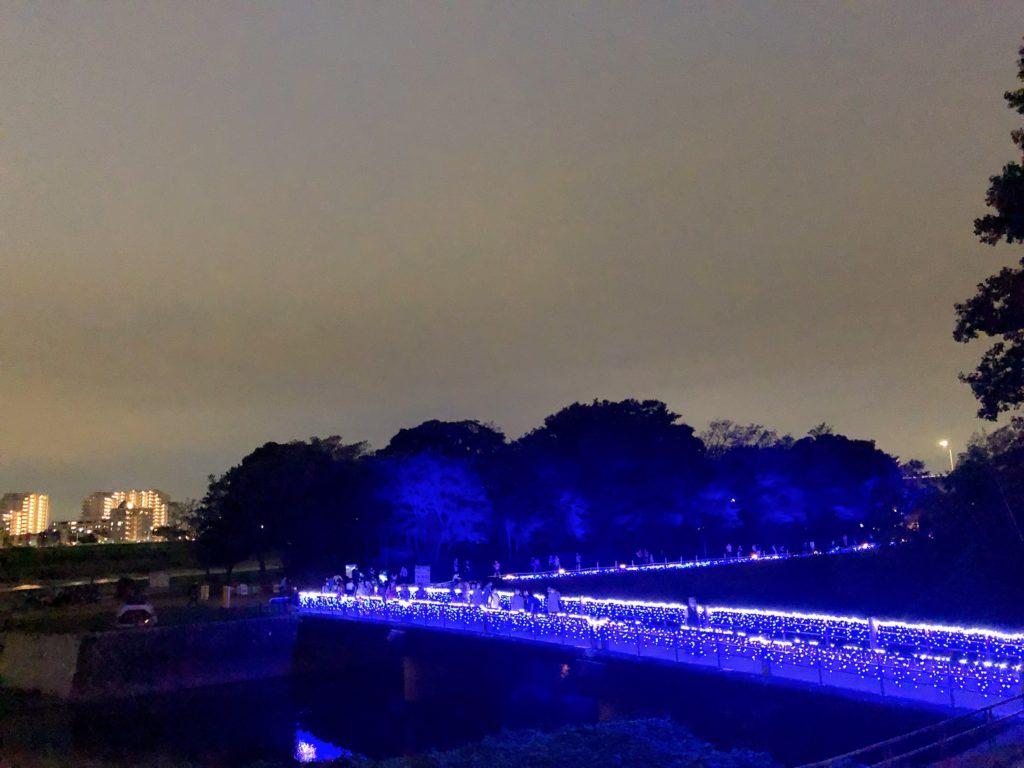 二子玉川 兵庫島ライトアップ