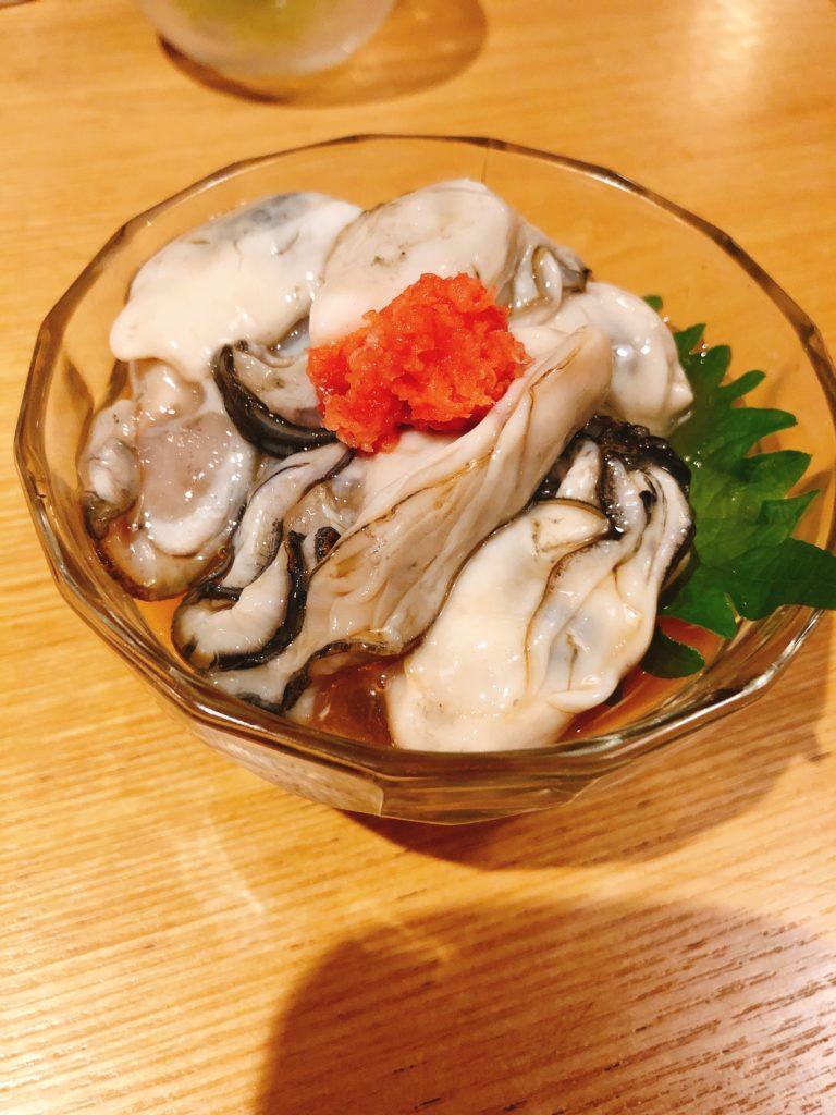 貮古玉一本堂 牡蠣のポン酢